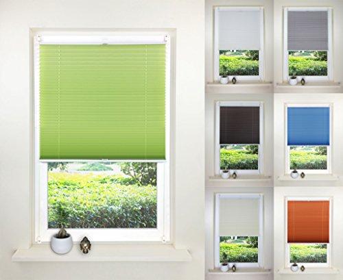 sun-world-plissee-klemmfix-faltrollo-jalousie-rollo-80cm-x-130cm-ohne-bohren-markenware-light-green