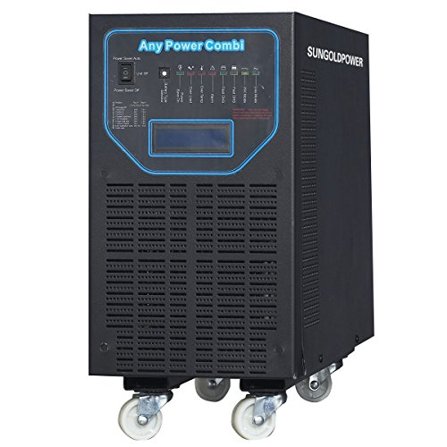 GTPOWER 6000W Peak 18000W APV Low Frequency Pure Sine Wave Inverter DC 48V AC Input 240V Split Phase AC Output 120V 240V Battery Charger Built In MPPT 40Amp Solar Charger Controller LCD.48KG!! (Power Inverter 48vdc To 120 Vac compare prices)