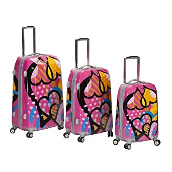 Rockland LOVE 3-Piece Spinner Luggage Set By Fox Luggage