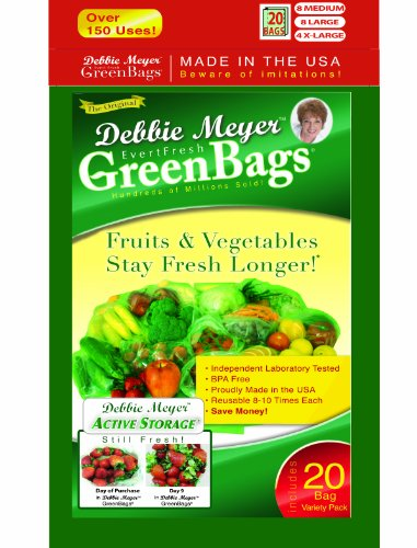 Debbie Meyer Green Bags, 20-Pack