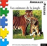 echange, troc Marie-France Floury - Les Animaux de la jungle (1 livre + 5 puzzles de 12 morceaux)
