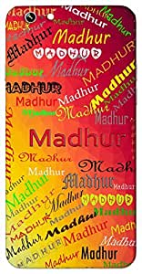Madhur (Melodious Sweet) Name & Sign Printed All over customize & Personalized!! Protective back cover for your Smart Phone : Apple iPhone 4/4S