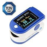 IDEALEBEN Finger Pulsoximeter Puls Monitor mit OLED Farbanzeiger und Zubehör: