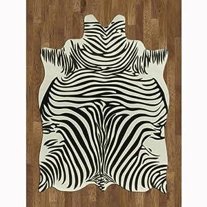 Faux animal hide rug zebra 5 39 w x 7 39 l - Faux animal skin rugs ...