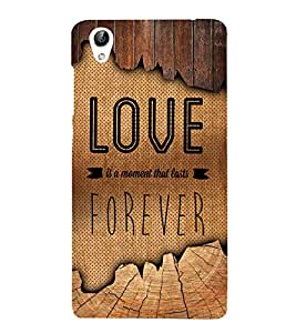 Love Forever 3D Hard Polycarbonate Designer Back Case Cover for VIVO Y51L :: Y 51L
