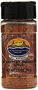 Carl's Gourmet All Natural Old Western Barbecue Spice Seasoning and Meat Rub - 3.5 oz