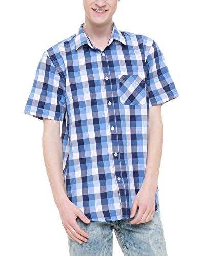 BIG STAR Camisa Hombre Badan_Shirt_Ss Azul