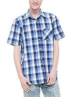 BIG STAR Camisa Hombre Badan_Shirt_Ss (Azul)