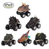 LTCtoy Dinosaur Toys Boys - Pull Back Dinosaur Cars (6 Pack),Animals Dino Toys,Dinosaur Cars Big Tire Wheel 3-15 Year Old Boys Girls Racing Gifts Kids,Including T-rex, Triceratops