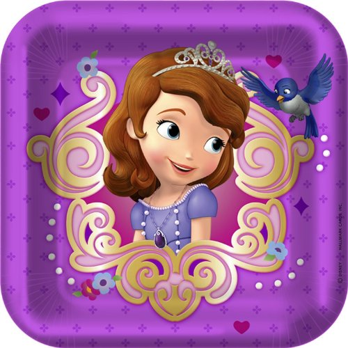 Disney Sofia the First Dessert Plates (8) - 1