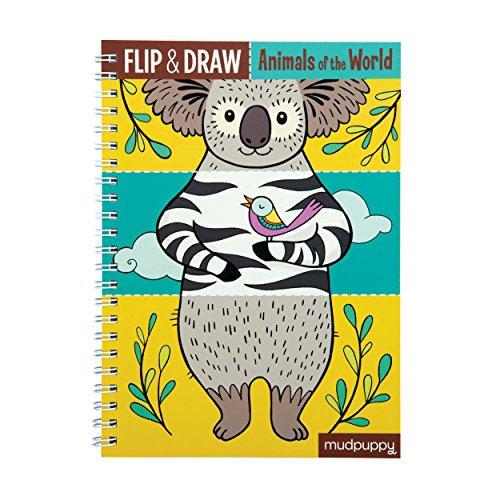 Mudpuppy Animals of The World Flip & Draw Toy
