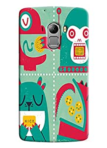 Blue Throat Cartoon Square Printed Designer Back Cover For Lenovo K4 Note