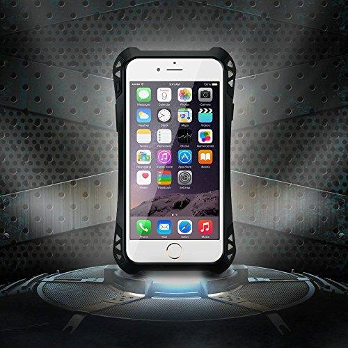 [最軽量&最薄] 2015年 モデルVicTsing?iPhone6ケース、アルミニウム金属コーニングゴリラガラス、耐衝撃 生活防水/防滴 アップル4.7インチiPhone6用の高品質の軍事ヘビーデューティ保護ハードカバースキンケース[並行輸入品]