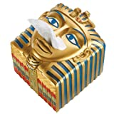 Classic Ancient Egyptian Collectible Accent Pharaoh Tissue Box Cover