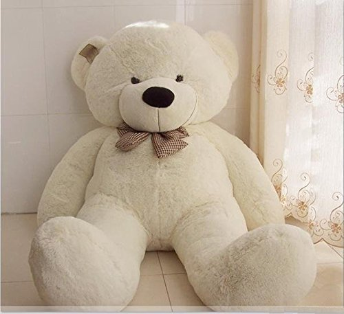 Joyfay-160cm-Giant-Teddy-Bear-63-53-feet-White-Big-Teddy-Bear-XXL-Extra-Large-Plush-Bear-Toy-Best-Gift-for-Birthday-Christmas-Valentine-Anniversary-by-JOYFAY