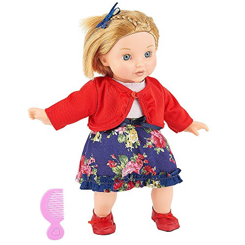 You & Me Friends 14 Inch Doll - Blonde Bob (Floral Dress And Red Cardigan) front-886813