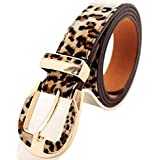 Leopard Print Faux Leather Fashion Belt for Ladies, Gift Idea