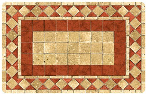 Bungalow Flooring 2 by 3-Feet Surfaces Floor Mat, Terracotta Tile Design