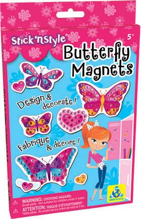 The Orb Factory Stick'N Style Butterfly Magnets - 1