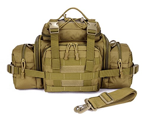 ffbba46f754 SUNVP Tactical Assault Gear Sling Pack Hiking Waist Fanny Pack Bag Shoulder  Backpack EDC Camera Bag