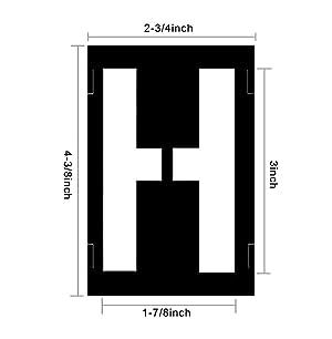 Attisstore Plastic Interlocking Stencils Letters and Numbers 138 Piece Set, 3 inch, Black (Color: Black, Tamaño: 3inch)