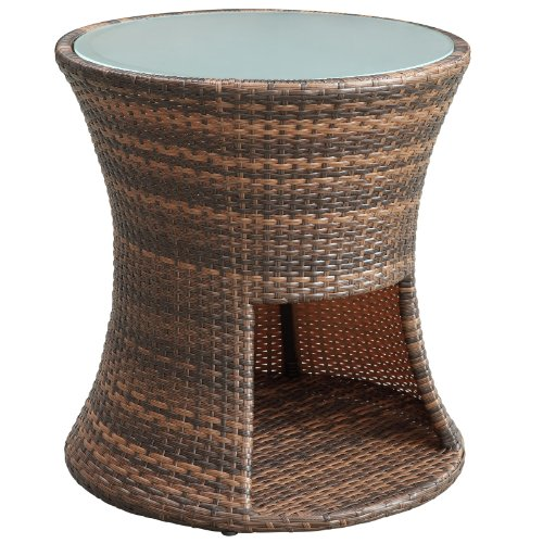 Modern Outdoor Patio Side Table Brown