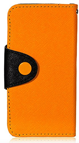 Mylife (Tm) Jack-O-Lantern - Modern Design - Textured Koskin Faux Leather (Card And Id Holder + Magnetic Detachable Closing) Slim Wallet For Iphone 5/5S (5G) 5Th Generation Itouch Smartphone By Apple (External Rugged Synthetic Leather With Magnetic Clip +