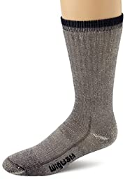 Wigwam Men's Merino Wool Comfort Hiker Crew Length Sock,Navy,Medium