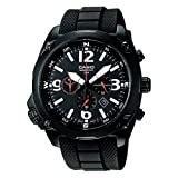 Casio - MTF-E002B-1AVEF - Collection - Montre Homme - Quartz Analogique - Chronographe - Bracelet en R�sine - Noirpar Casio