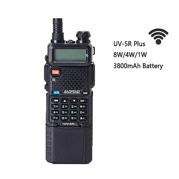 BAOFENG UV-5R ALTA POTENCIA 8/4/1W 3800MAH RADIO BIDIRECCIONAL DUAL BAND HAM RADIO TRANSCEPTOR (NEGRO)