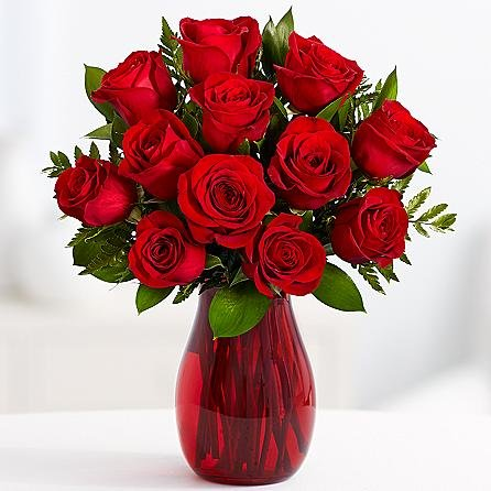 12 Red Roses with Vase -Same Day Flower Delivery – Flowers Online – Birthday Flowers – Wedding Flowers – Spring Flowers – Cheap Flowers – International Flower Delivery – Online Flowers – Send Flowers – Wedding Bouquets – Aniversary Flowers