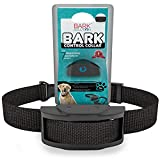 Bark Solution improved Anti Bark Dog Collar Training System, Electric No Bark Shock Control with 7 Adjustable Sensitivity Control & Manual