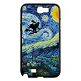 Funny HARRY PORTER Ridiing Broom & VAN GOGH Starry Night Samsung Galaxy Note 2 II N7100 Case Cover – Best Protective Hard Shell for Samsung thumbnail