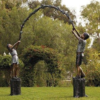 Jump Rope Arbor Bronze Sculpture - Frontgate