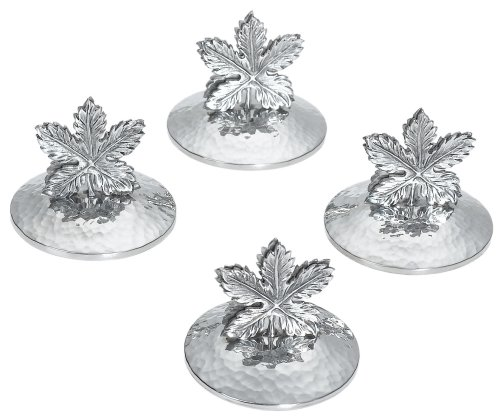 Ginkgo Grape Leaf Pewter Place Card Holder