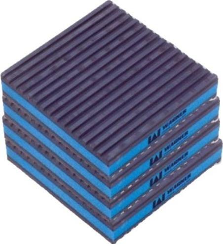 """DiversiTech MP4-E E.V.A. Anti-Vibration Pad, 4"""" x 4"""" x 7/8"""" , Pack of 4"""