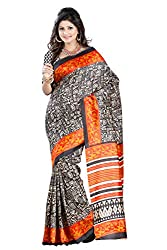 Pruthu Art Silk Sari with Blouse Piece (pas_natalie_Multicolor)