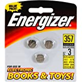 Energizer 357BP-3 Watch/electronic Batteries (Pack of 3)
