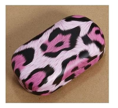 U-beauty Beautiful Rose Sex Leopard Pattern Leather Contact Lens Case Travel Kit Set