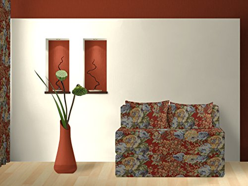 Schlafsofa, Heritage, rot, 120 cm bestellen