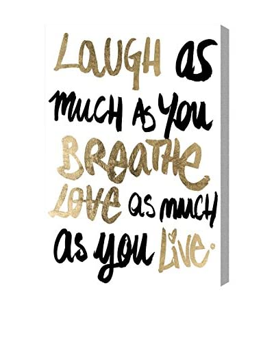 Oliver Gal Laughs Canvas Art, Multi
