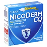 NicoDerm CQ Stop Smoking Aid, Step 2, Clear Patches, 2-Week Kit 14 patches