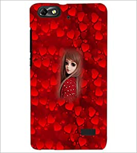 PrintDhaba Cute Girl D-4524 Back Case Cover for HUAWEI HONOR 4C (Multi-Coloured)