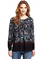 Indigo Collection Floral Blouse