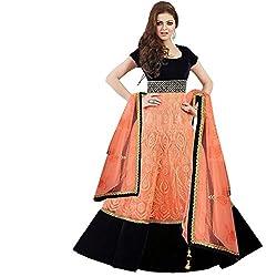 Cenizas Orange Colour Semi-Stiched Salwar suits