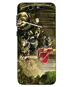 Case Cover Printed Multicolor Hard Back Cover For LYF EARTH 2