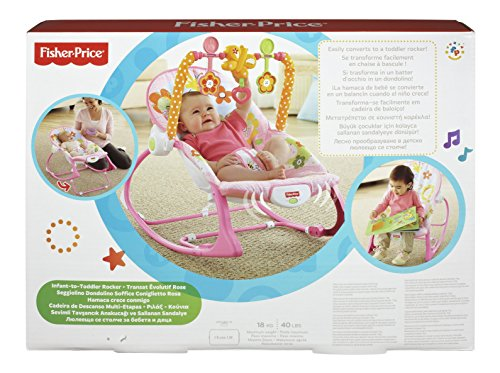fisher price transat y8184 baby rocker pink babaloo
