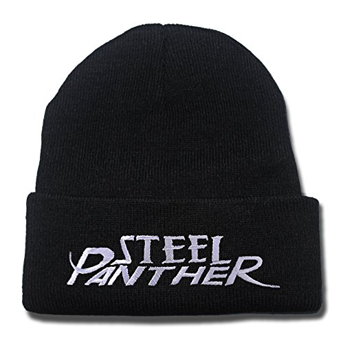 HAISHEN Steel Panther Band Logo Beanie Fashion Unisex Embroidery Beanies Skullies Knitted Hats Skull Caps (British Invasion Steel Panther compare prices)