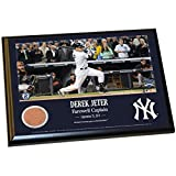Derek Jeter Final Yankee Moment 8x10 Dirt Plaque