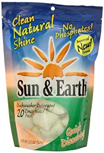 Sun & Earth Automatic Dishwasher Pacs, 20 ct (Pack of 6)